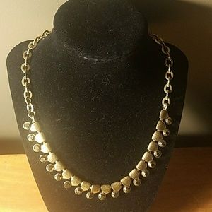 Gold Chain with Amber Rhinestones